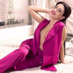 Escort agency Bursa lover Mariet in violet free dress is on the big white fluffy carpet
