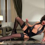Escort agency Bursa pussy Mariet is fully lying on the glass table showing you her slimness