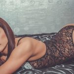 Escort agency Russia kitten Albina is in the transparent nightgown